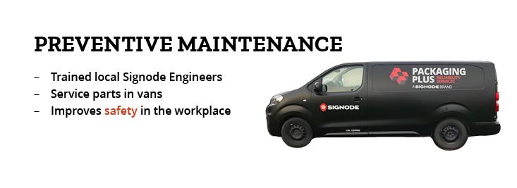 Preventive maintenance banner