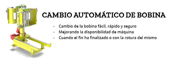 cambio automático de bobina