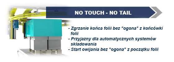 No touch – No Tail – zakończenie owijania bezdotykowe, bez pozostawiania ogona.