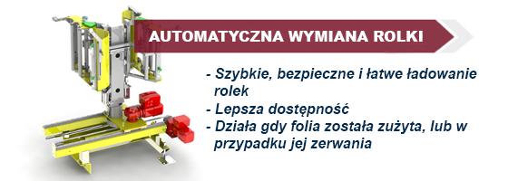Automatyczny system wymiany rolki folii dla owijarki
